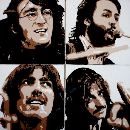 les Beatles en quadri